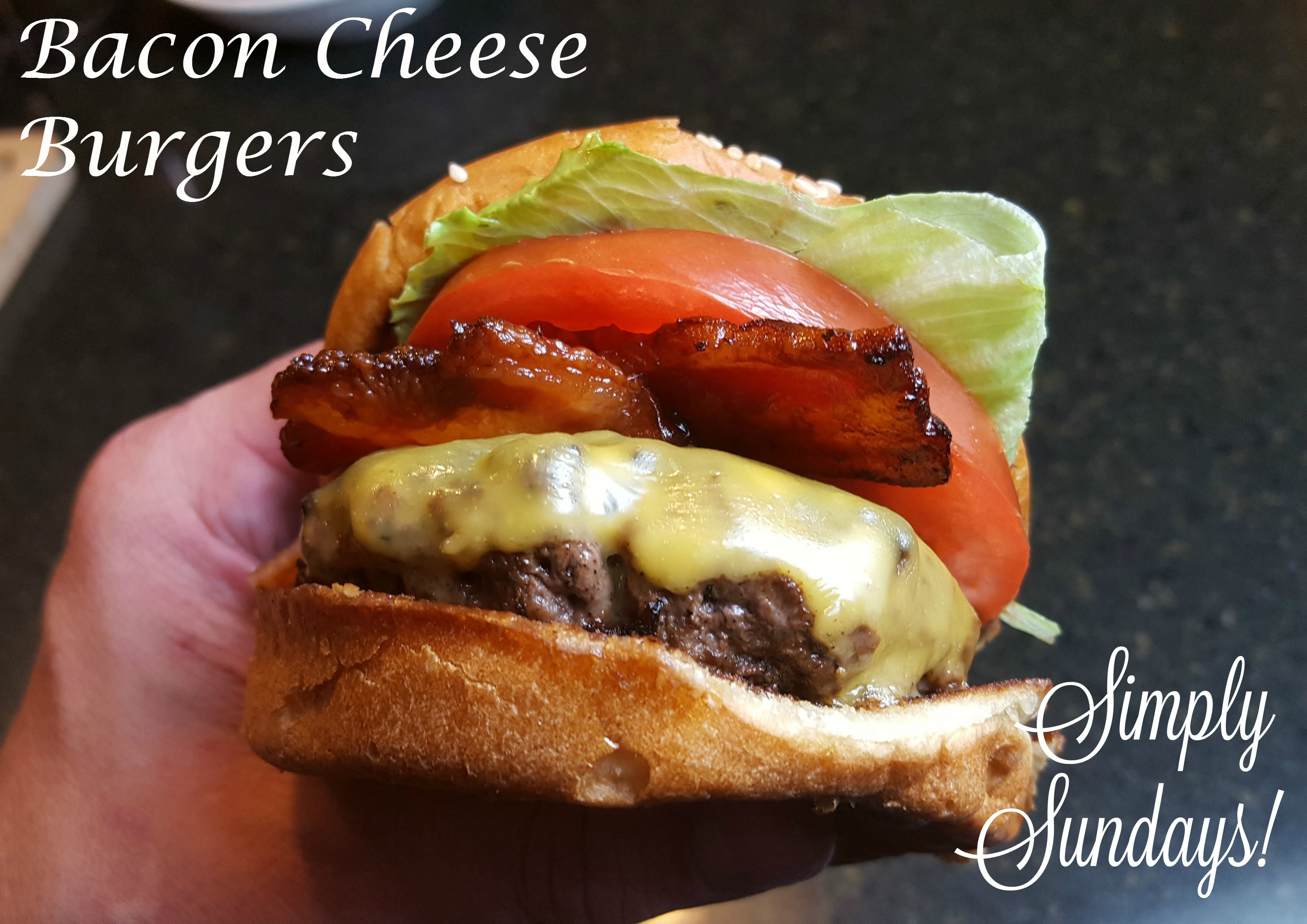 bacon cheese burgers